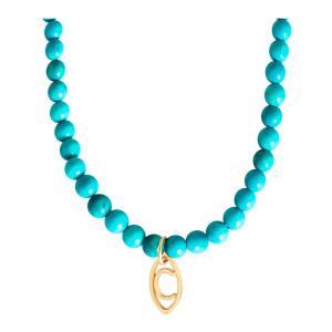 Collier Perles Origines Colors Magnésite Or Jaune
