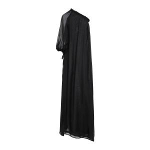 Robe Aurora Mousseline Soie Noir