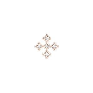 Boucle d'oreille Passion Bouton Or Diamants (vendue à l'unité)
