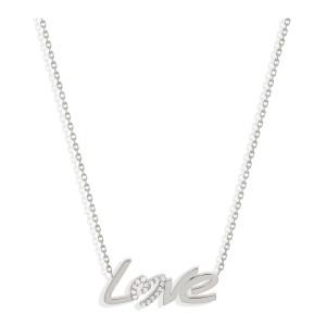 Collier Love Diamants Or Blanc