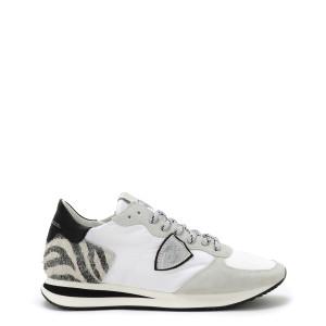 Baskets TRPX Low Mondial Animalier Blanc Argent