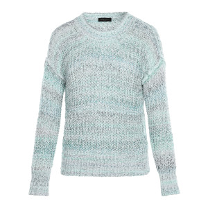 Pull Col Rond Coton Blanc