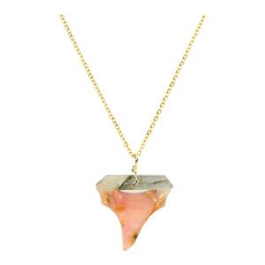 Collier Shark Labradorite Opale