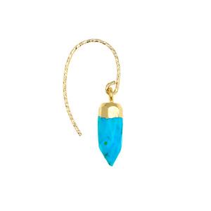 Boucle d'oreille Rocher Roucas Turquoise (vendue à l'unité)