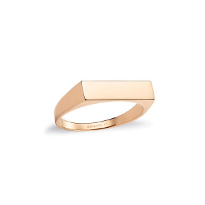 Bague Baguette Or Rose
