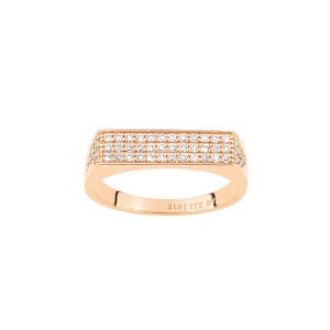Bague Baguette Signet Diamant