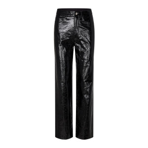 Pantalon Rotie Serpent Verni Noir