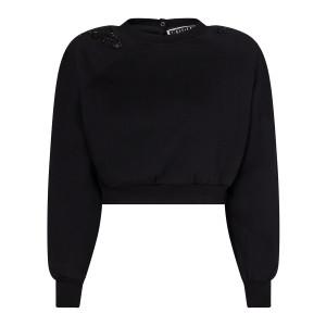 Sweatshirt Claudia Coton Biologique Noir