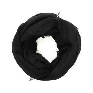 Foulard Enrica Cachemire Soie Noir