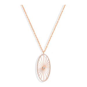 Sautoir Cheyenne Ovale Diamants Or Rose