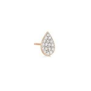 Boucle d'oreille Bliss Puce Diamants Or Rose (vendue à l'unité)