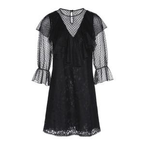 Robe Volants Tulle Noir