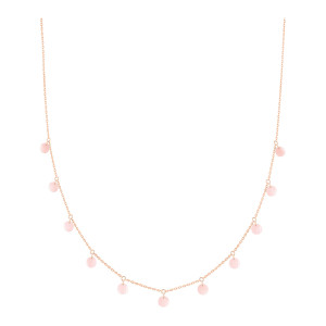 Collier Polka Opale Rose Or Rose