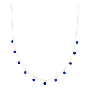Collier Polka Lapis Lazuli Or Jaune