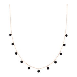Collier Polka Onyx Or Rose