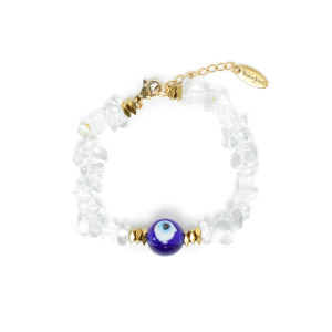 Bracelet Eye Pierres Transparentes
