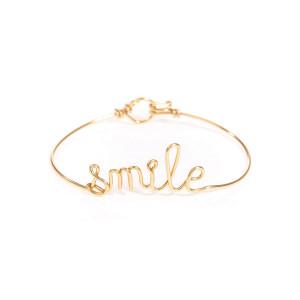 Bracelet Fil Smile Gold Filled - ATELIER PAULIN