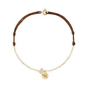 Bracelet Cordon Chaine Sublime Médaille Émail Or