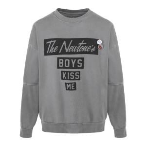 Sweatshirt Roller Kiss Me Coton Gris