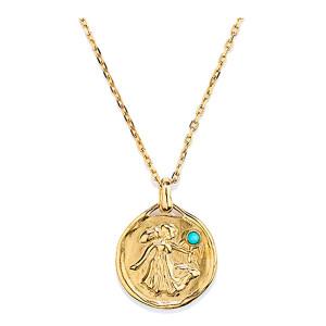 Collier Talisman Mini Astro Vierge Turquoise