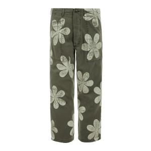 Pantalon The Vintage Coton Vert Army