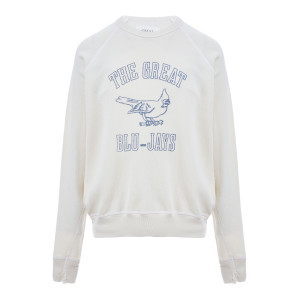Sweatshirt The College Coton Blanc Délavé