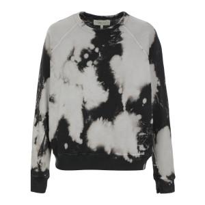 Sweatshirt The College Coton Noir Délavé