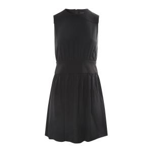 Robe Classique Soie Noir