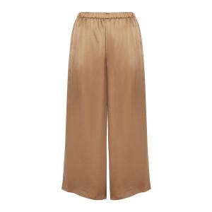 Pantalon Fluide Soie Camel
