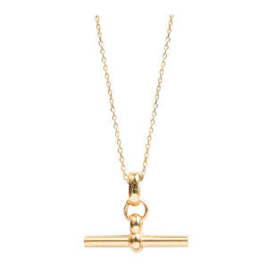 Collier T-Bar Small Plaqué Or