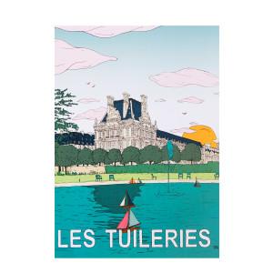 Affiche Tuileries 50x70cm