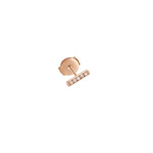 Boucle d'oreille Medellin PM Or Rose Diamants (vendue à l'unité)