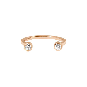 Bague Mademoiselle Else Or Rose Diamants