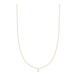 Collier Stardust Or Rose 1 Diamant