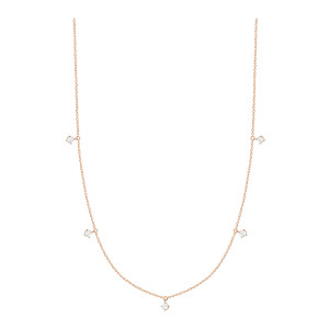 Collier Stardust Or Rose 5 Diamants