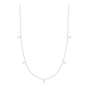 Collier Stardust Or Blanc 5 Diamants