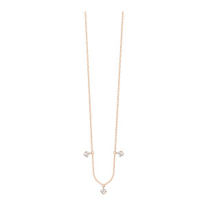 Collier Stardust 3 Diamants Or Rose