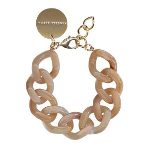 Bracelet Flat Beige Marbré