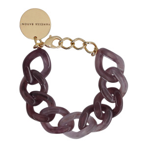 Bracelet Flat Marron Bordeaux