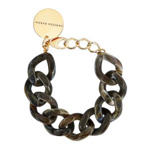 Bracelet Flat Mud Marbré