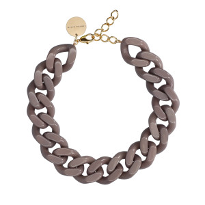 Collier Big Flat Dark Taupe