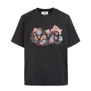 Tee-shirt Logo Floral Noir