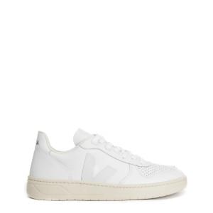 Baskets V-10 Cuir Extra Blanc