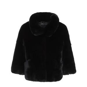Manteau Vero Vex Lapin Noir