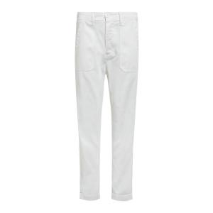 Pantalon Tucket Coton Twill Blanc