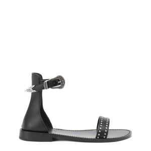 Sandales Ever Alta Cuir Noir