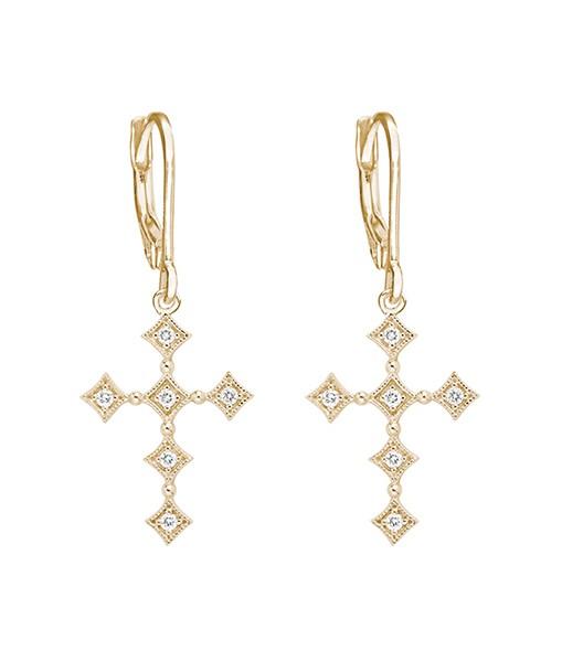 Boucles d'oreilles Dormeuses Divine Diamants