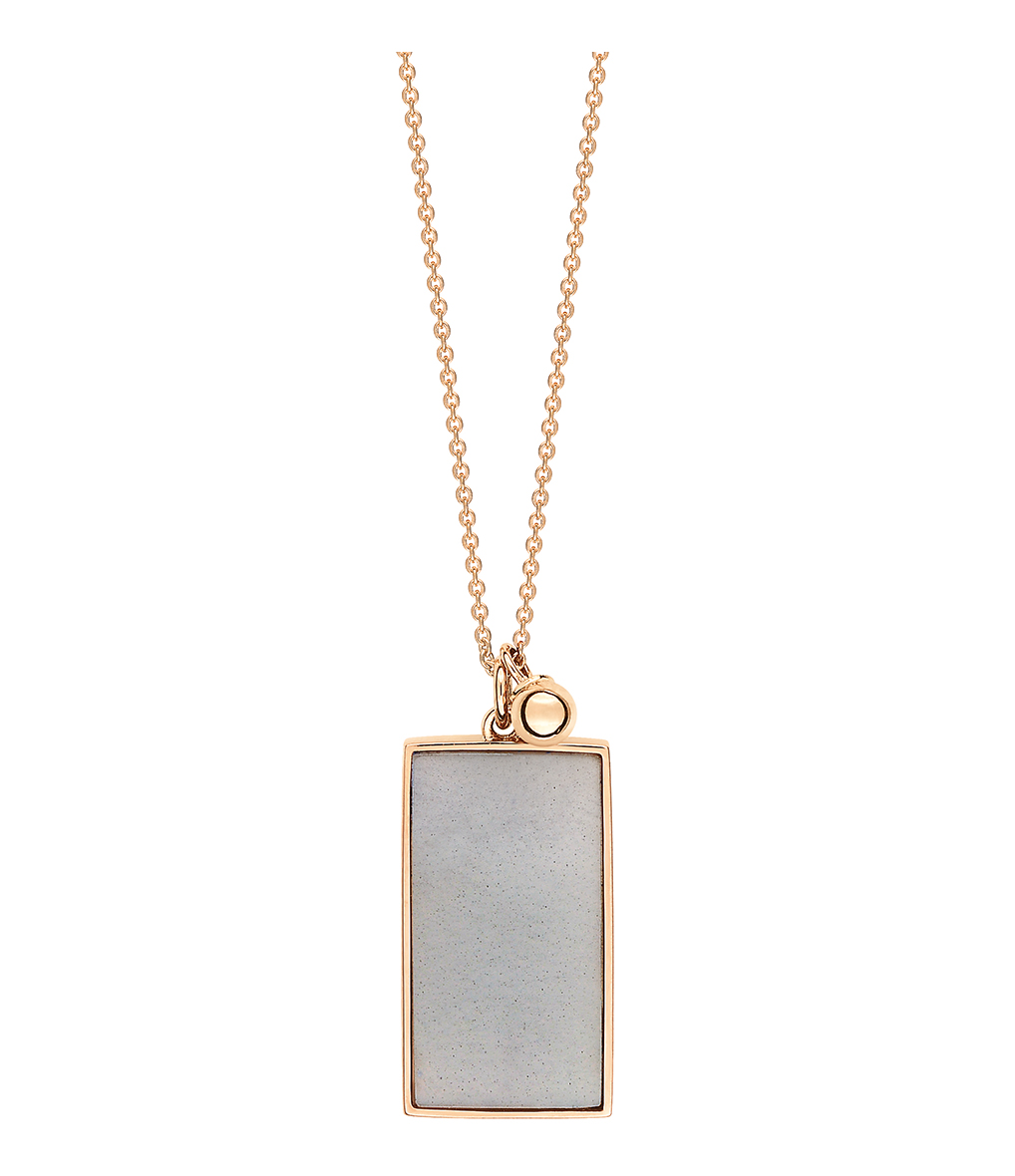 Collier Ever Rectangle Moonstone