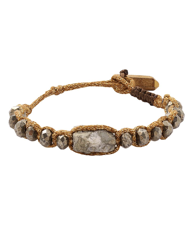 Bracelet Shamba Pyrite / Doré