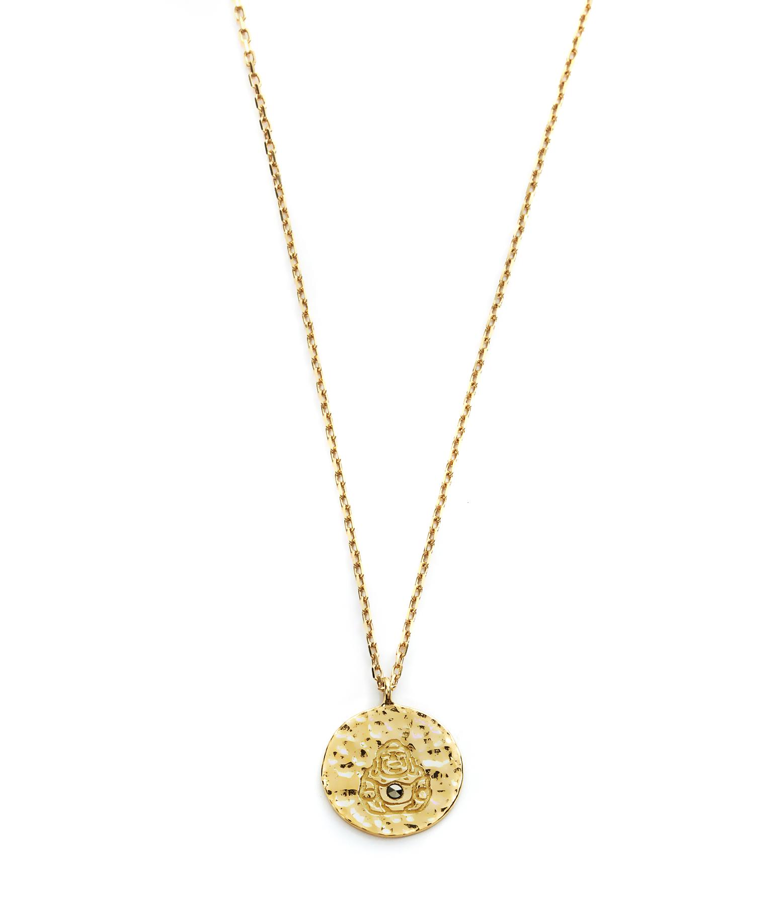 Collier Long Médaille Buddha Ibiza 9K